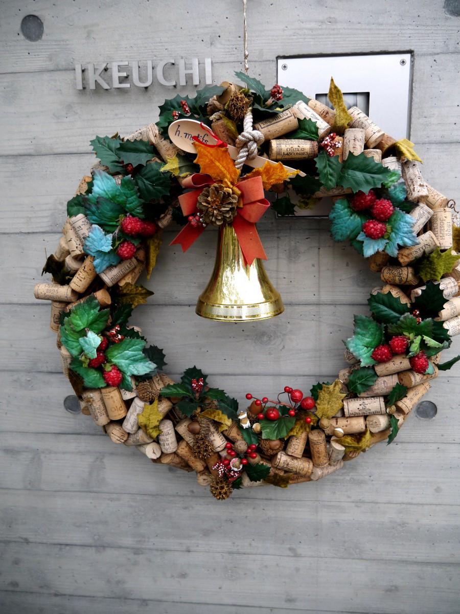 クリスマスリース・コルク