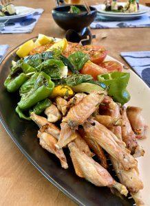 鶏手羽中と夏野菜のグリル